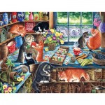 Puzzle  Sunsout-39423 XXL Pieces - Irina Garmashova-Cawton - In a Garden Shed