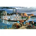 Puzzle  Sunsout-39521 XXL Pieces - Ken Zylla - Riverboat