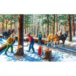 Puzzle  Sunsout-39545 XXL Pieces - Lumber Jacks