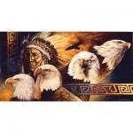 Puzzle  Sunsout-40078 XXL Pieces - Lakota Twilight