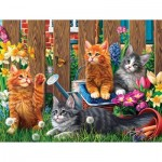 Puzzle  Sunsout-42914 XXL Pieces - Kittens in the Garden