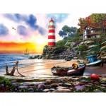 Puzzle  Sunsout-42925 Lighthouse Harbor