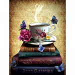 Puzzle  Sunsout-42979 XXL Pieces - Tea and Books