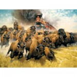 Puzzle  Sunsout-44237 XXL Pieces - The Coming of the Iron Horse