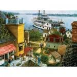 Puzzle  Sunsout-44318 Paddle Boat Landing