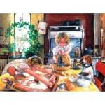 Puzzle  Sunsout-44648 Susan Brabeau - Baking Cookies