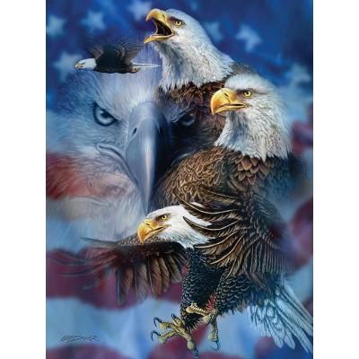 Puzzle Sunsout-46530 Steven Michael Gardner - Patriotic Eagles