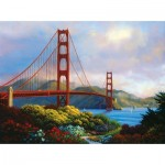 Puzzle  Sunsout-48511 XXL Pieces - Morning at the Golden Gate