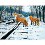 Puzzle  Sunsout-48831 XXL Pieces - Fox Tracks
