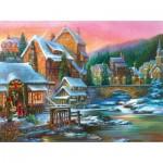 Puzzle  Sunsout-49066 Sandra Bergeron - Village Visit