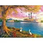Puzzle  Sunsout-50030 XXL Pieces - Mississippi Queen