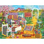 Puzzle  Sunsout-50514 XXL Pieces - Garden Quilting