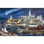 Puzzle  Sunsout-51182 Debbi Wetzel - Winter Harbor