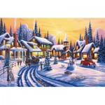 Puzzle  Sunsout-51359 Geno Peoples - A Winter Story