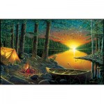 Puzzle  Sunsout-51844 Ervin Molnar - Evening by the Lake