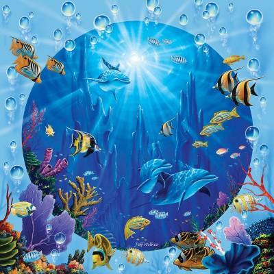 Puzzle Sunsout-52345 XXL Pieces - Dolphin Castle