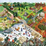 Puzzle  Sunsout-52421 XXL Pieces - Four Seasons Garden
