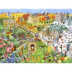 Puzzle  Sunsout-52439 XXL Pieces - English Country Life through the Seasons