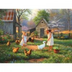 Puzzle  Sunsout-52952 XXL Pieces - Evening at Grandma's