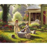 Puzzle  Sunsout-53011 Mark Keathley - Spring Cleaning