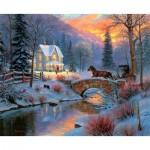 Puzzle  Sunsout-53046 Mark Keathley - Holiday Homecoming