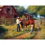 Puzzle  Sunsout-53084 XXL Pieces - Mark Keathley - Learning the Ropes