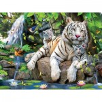 Puzzle  Sunsout-54944 XXL Pieces - White Tigers of Bengal