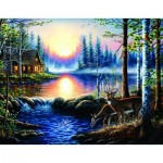 Puzzle  Sunsout-55104 XXL Pieces - Chuck Black - Total Bliss