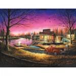 Puzzle  Sunsout-55139 XXL Pieces - Chuck Black - A Perfect Evening