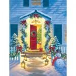Puzzle  Sunsout-55942 Corbert Gauthier - Christmas Porch