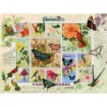 Puzzle  Sunsout-55962 Finchley Arts - Butterfly and Hummingbird Flight