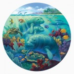 Puzzle  Sunsout-55968 XXL Pieces - Manatee Beach