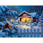Puzzle  Sunsout-55989 Corbert Gauthier - Christmas Bungalow