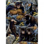 Puzzle  Sunsout-56452 Karen and Rebecca Latham - Bear Cubs