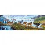 Puzzle  Sunsout-57356 XXL Pieces - Wolves on the Run