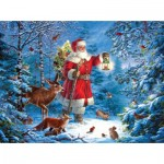 Puzzle  Sunsout-59770 Liz Goodrick-Dillon - Wilderness Santa