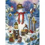 Puzzle  Sunsout-59780 XXL Pieces - Wilderness Snowman