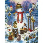 Puzzle  Sunsout-59794 XXL Pieces - Liz Goodrich Dillon - Snowman in the Wild