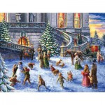 Puzzle  Sunsout-60617 XXL Pieces - A Traditional English Christmas
