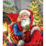 Puzzle  Sunsout-60662 XXL Pieces - Kissing Santa