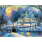 Puzzle  Sunsout-60765 XXL Pieces - A White Christmas