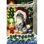 Puzzle  Sunsout-61542 A Christmas Kitten