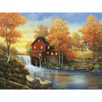 Puzzle  Sunsout-62118 XXL Pieces - John Zaccheo - Sunset at the Old Mill
