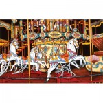 Puzzle  Sunsout-62701 Thelma Winter - Carousel at the Fair