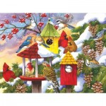 Puzzle  Sunsout-62979 XXL Pieces - Meeting at the Birdfeeder