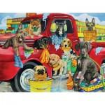 Puzzle  Sunsout-63058 XXL Pieces - Puppy Car Wash