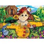 Puzzle  Sunsout-63079 XXL Pieces - Scarecrow and Blackbird
