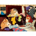 Puzzle  Sunsout-67207 Julie Bauknecht - Home is Where my Cat is
