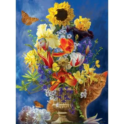 Puzzle Sunsout-67625 Nene Thomas - Garden of Gold
