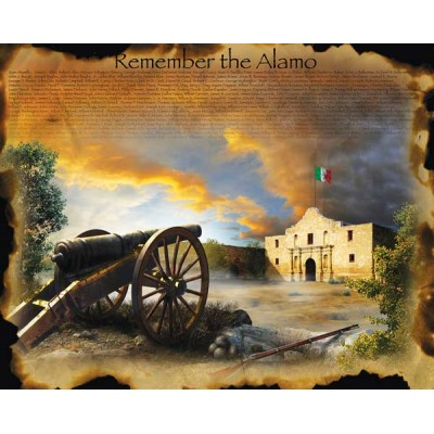 Puzzle Sunsout-67952 XXL Pieces - Jim Todd - Remember the Alamo